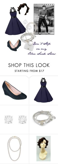 """Blue Suede Shoes"" by raiknightshade ❤ liked on Polyvore featuring Effy Jewelry, Lizzy James and Chanel"