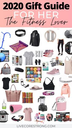 This is the ultimate gift guide for her, the fitness lover. Over 50 gift ideas for the fit girl who loves everything health and fitness. Find the best gift ideas for women who love to workout. Perfect list of ideas for a holiday gifts, Christmas gift, Mother's Day gift, Birthday gift and Anniversary gift. Let's start shopping! Click for full descriptions. #giftideasforher #girlgiftideas #giftideasfitnesswomen #giftideasforfitnesslovers #giftguideforher #2020 #giftguideformom #giftideasformom Birthday Woman, Birthday Gifts For Women, Christmas Gift Ideas For Teenage Girl, Birthday Gift For Sister, Teenage Girl Birthday, Friend Birthday, Mother Christmas Gifts, Mother Day Gifts, Top Womens Christmas Gifts