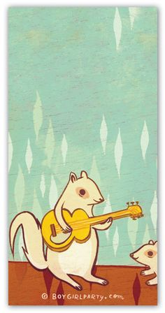 Rock Squirrel Notepad by Susie Ghahremani / boygirlparty.com – boygirlparty : paper goods, gifts and art by susie ghahremani / boygirlparty.com