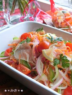 ♪ easy appetizer for hospitality ★ marinated ham- ♪ easy appetizer for hospitality ★ marinated ham - Cafe Food, Food Menu, Clean Eating Recipes, Cooking Recipes, Tasty Videos, Healthy Menu, Vegetable Sides, Asian Recipes, Food And Drink