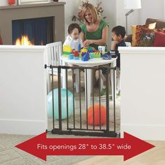 "(This is an affiliate pin) North States 38.5"" Wide Easy-Close Baby Gate: The Multi-Directional Swing Gate with Triple Locking System - Ideal for Doorways or Between Rooms. Pressure Mount. Fits 28""-38.5"" Wide (29"" Tall #DogFence Best Baby Gates, Dog Fence, Baby Safety, Indoor, Fitness, Easy, Rooms, Home Decor, Interior"