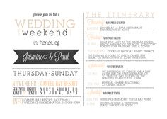 itinerary template for wedding guests | ... their itinerary sounds amazing this was the itinerary invitation