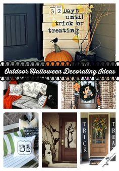 Outdoor Halloween Decorating Ideas via createcraftlovecom