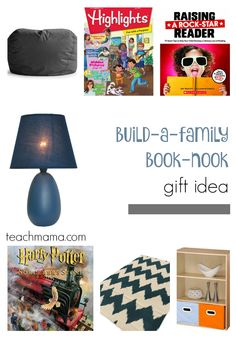 family reading time with this cute DIY book nook idea = awesome!  great holiday gift for the whole family