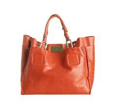 A big orange purse
