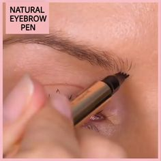Highly comfortable, Natural Tattoo EyeBrow Pen features a micro-fork tip applicator that creates hair-like strokes for brows that last all day. Get the perfect eyebrow daily with in seconds. Get perfectly-defined, natural-looking brows that last all day. Eyebrow Makeup Tips, Makeup Hacks, Skin Makeup, Makeup Ideas, Makeup For Eyebrows, Drawing Eyebrows, Blonde Eyebrows, Natural Makeup Tips, Eye Brows