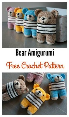 Adorable Bear Amigurumi Free Crochet Pattern