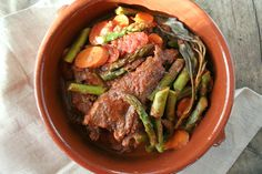 Braised Spring Stew with Asparagus and Carrots   myhumblekitchen.com