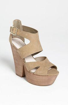 Topshop 'Lanie' High Vamp Cutout Sandal