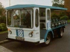 The good old Co-oP milk float 1970s Childhood, My Childhood Memories, Childhood Toys, Bad Memories, 80s Kids, I Remember When, Before Us, My Memory, The Good Old Days