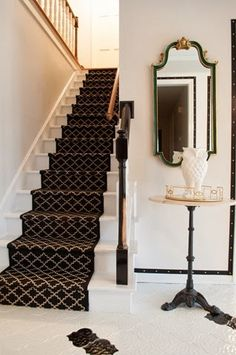 Carpet Runners For Stairs Canada Product House Design, Stair Runner Carpet, Diy Stairs, Home, House, Staircase Design, Wooden Stairs, New Homes, Stairs