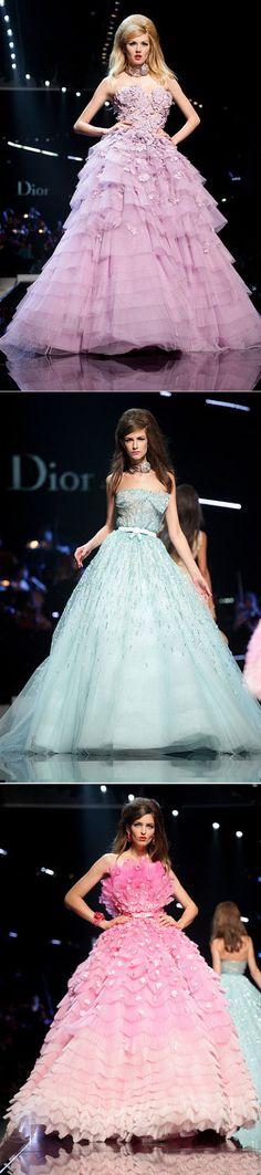 Dior colorful wedding dress