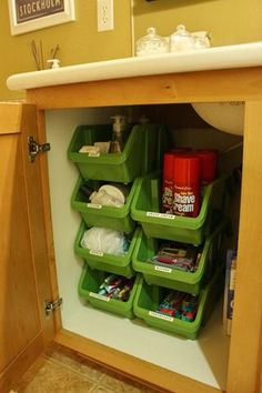 Under Kitchen Cabinet Storage Ideas oh i like this under the sink idea | idee d'arredamento