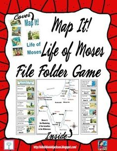 Map It! Life of Moses File Folder Game updated freebie