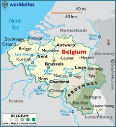 BELGIUM: Belgium's two largest regions are the Dutch-speaking region of Flanders in the North and the French-speaking Southern region of Wallonia. Pop. 11M.