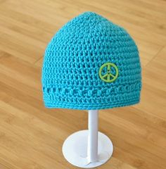 Blue Baby Beanie  Newborn Baby Blue Hat  Blue Baby by MerryToppers