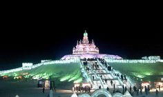 Beautiful Photos From The Ice Sculpture Festival in Harbin, China - Country Living