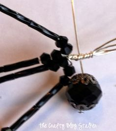 How to make a beaded spider - Dalton makes these and other jeweled insects
