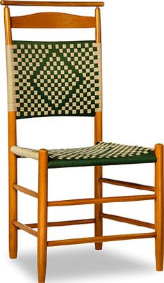 No. 5 Tape Back Shaker Side Chair With Shawl Rail