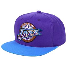online store 7b80d cdae4 Utah Jazz Mitchell   Ness 2-Tone Classic Adjustable Snapback Hat - Purple,  Your