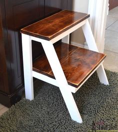 Build a DIY Wooden Step Stool With These Free Plans: Kids Step Stool from Her Tool Belt