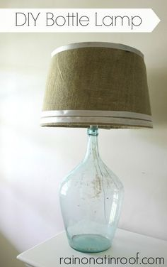 You can turn ANY BOTTLE INTO A LAMP! And you can do it for less than $15! How to Make a Lamp Out of a Bottle