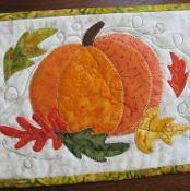 Autumn Pumpkin Mug Rug - via @Craftsy