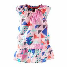 Triangle Pop Flutter Dress | With flutter raglan sleeves and a mod geometric print, this dress is oodles of fun.