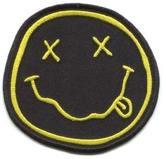 NIRVANA smiley face EMBROIDERED PATCH Iron On FREE SHIP p4314 nevermind in utero   Crafts, Sewing, Embelishments & Finishes   eBay!
