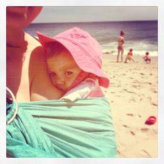breastfeeding and babywearing on the beach! #sakurabloom