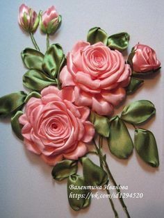 Wonderful Ribbon Embroidery Flowers by Hand Ideas. Enchanting Ribbon Embroidery Flowers by Hand Ideas. Ribbon Embroidery Tutorial, Hand Embroidery Flowers, Flower Embroidery Designs, Learn Embroidery, Silk Ribbon Embroidery, Embroidery Kits, Embroidery Supplies, Embroidery Stitches, Ribbon Art