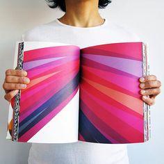 Geometric book spread. #kapitza #geometricart #bookdesign #patternlove ❤️