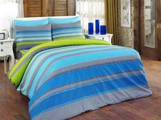 Bavlněné povlečení Elle tyrkysová, 220 x 200 cm, 2 ks 70 x 90 cm Set Cover, Duvet Sets, Green And Purple, Home Textile, Comforters, Pillow Cases, Blanket, Pillows, Bedroom
