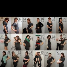 This is so cute! I want to do something like this with my next pregnancy.. Same dress for weekly picture. :)