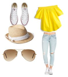 """Untitled #28"" by tytiana-ransom on Polyvore featuring J.Crew, Converse, Gap and Ray-Ban"