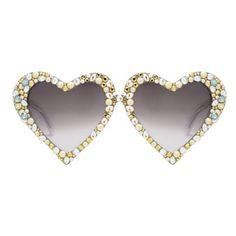 Emma embellished heart shaped glasses