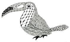 Zentangle Animals | Toucan Zentangle