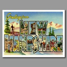 14 best greetings from postcards images on pinterest in 2018 greetings from new hampshire nh post card the granite state retro postcard m4hsunfo