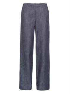 Wide-leg denim twill jeans by Adam Lippes