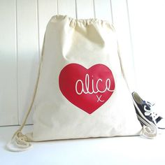 Cool kids bag personalised heart 'knitti kiss' storage bag by rosie jo's | notonthehighstreet.com