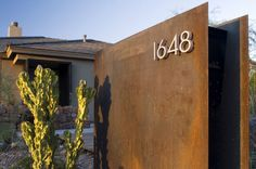 mid century house numbers
