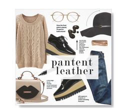 """Pantent leather~~"" by stellacolor21 ❤ liked on Polyvore featuring Citizens of Humanity, MAC Cosmetics, Dorothy Perkins, Frency & Mercury and Stella & Dot"