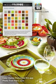 Entertaining? Choose a color theme from the Color911 app as your inspiration and entertain in style! #DIY