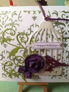 Card using sparkle medium Bird Cages, Crafters Companion, Sparkle, Birds, Houses, Crafty, Medium, Inspiration, Ideas