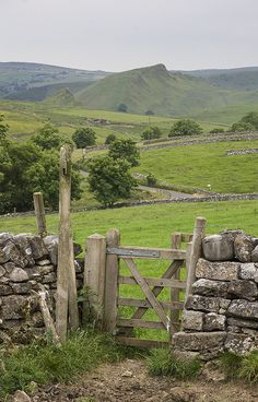 Walking through the fields towards Earl Sterndale with Chrome Hill in the background, Derbyshire, England by l4ts