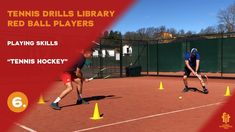 Red ball players drills and exercises Tennis Videos, Tennis Workout, Player 1, Drills, Hockey, Exercises, Basketball Court, Red, Field Hockey