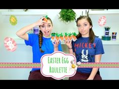 Easter Egg Roulette | Brooklyn and Bailey - YouTube