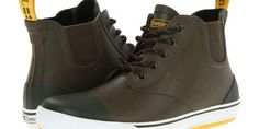 7 shoes Men can wear in the rain which is not rubber! Girls have rain boots. Guys have...