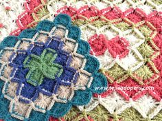 How to bavarian crochet knitting in square and rectangular