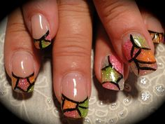 Stained Glass - Nail Art Gallery